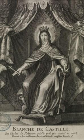 Gravure représentant Blanche de Castille. Très pieuse, la reine puis régente du Royaume de France était entrée dans un couvent peu avant sa mort. Photo Médiathèque de Troyes Champagne Métropole