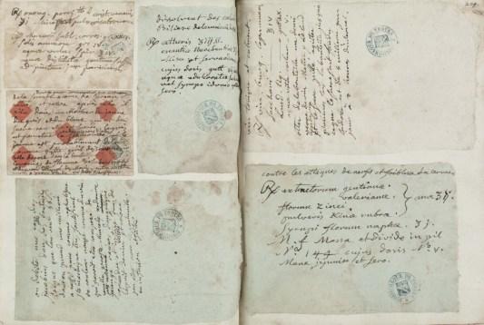 Notes du curé de Vauchassis. Carnet de notes du curé de Vauchassis, sans date. [Ms 2645]. Photo Médiathèque de Troyes Champagne Métropole