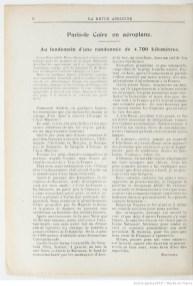 """""""La Revue aérienne"""" publie en janvier 1914 le récit par Pierre Daucourt lui-même de son """"raid"""" en Turquie. Source : Gallica"""