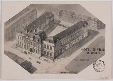 Balley, Projet pour l'Hôtel de V. de Troyes, 1922, [ICONO 102-10]