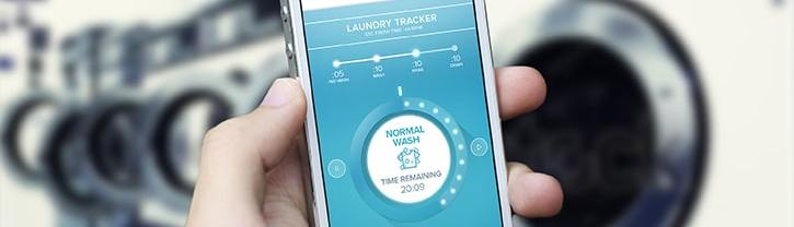 on demand laundry customer mobile app