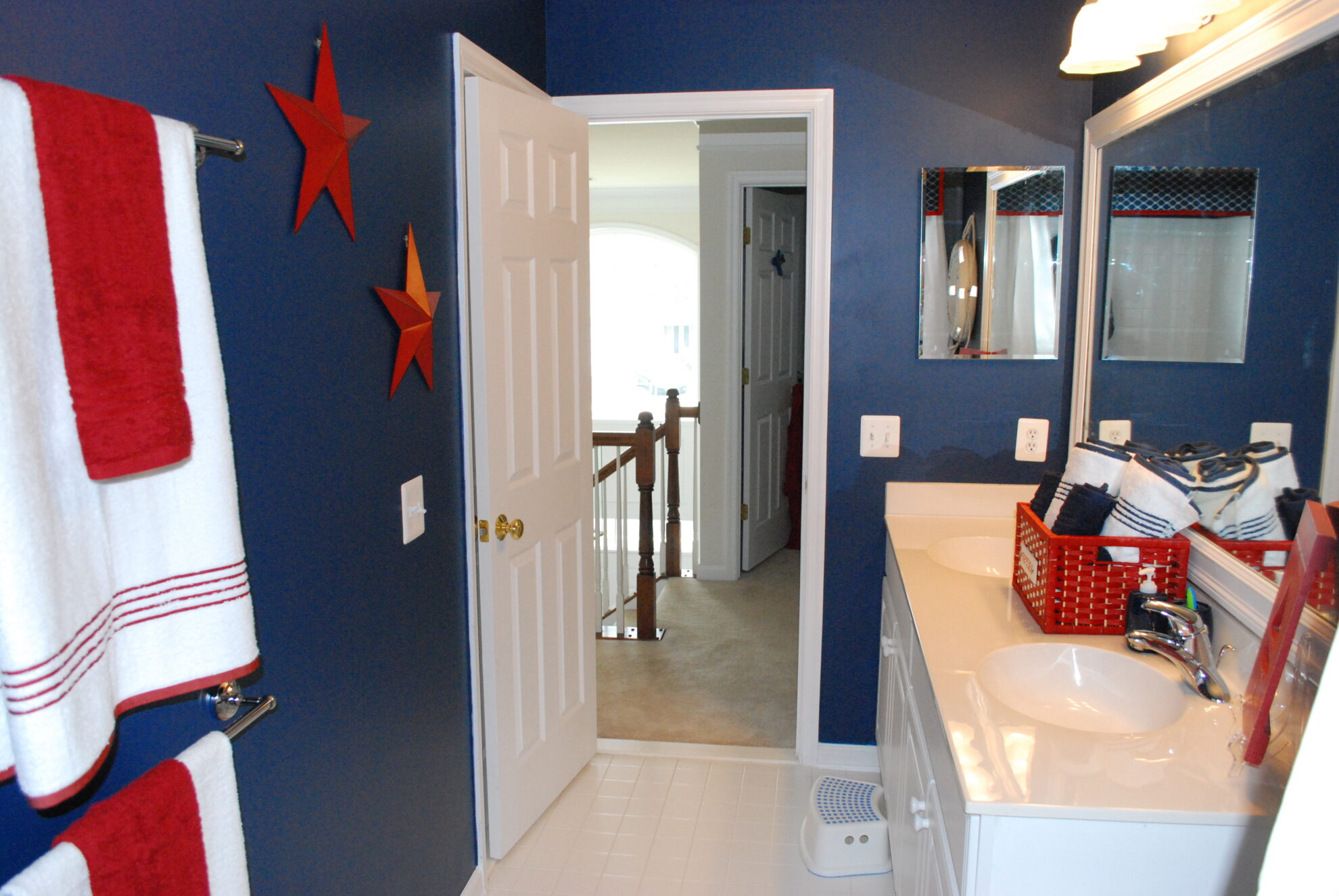 Boys Bathroom With A Nautical Theme  11 Magnolia Lane