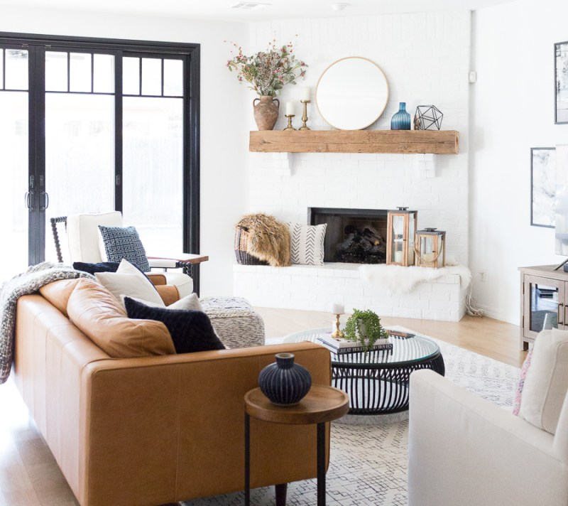 Fabulous White Painted Fireplace Makeover Living Room Drab To Fab Machost Co Dining Chair Design Ideas Machostcouk