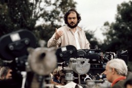 Director Stanley Kubrick on location