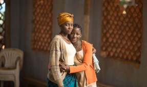 Oscar winner Lupita Nyong'o as Harriet, left, with newcomer Madina Nalwanga as Phiona in Disney's Queen of Katwe (2016).