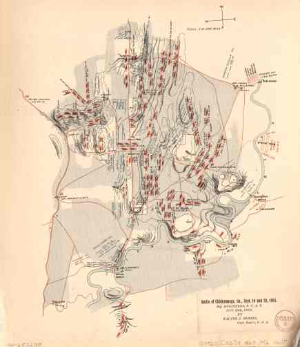 Chickamauga Battlefield Map