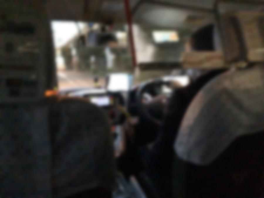 AI運行バスで使用されているタクシー車内画像