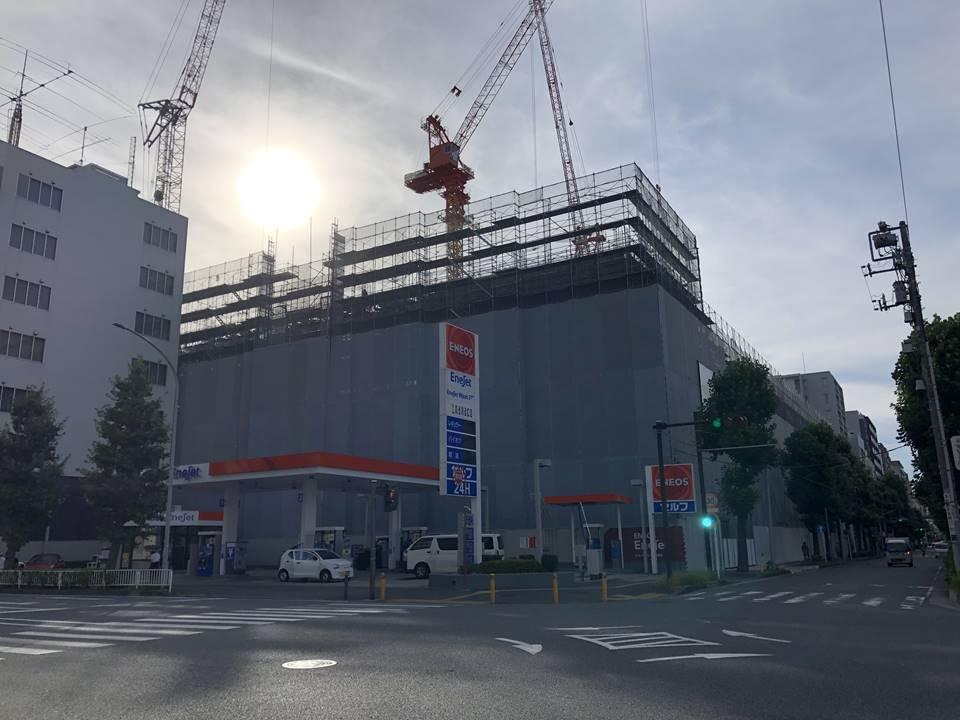 横浜武道館施設の建設工事写真