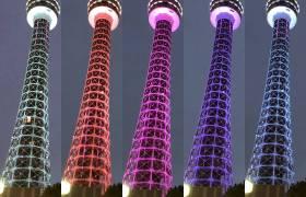 横浜マリンタワーのライトアップ(2019年3月)