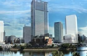 (仮称)馬車道駅直結 横浜北仲タワープロジェクトの完成イメージ