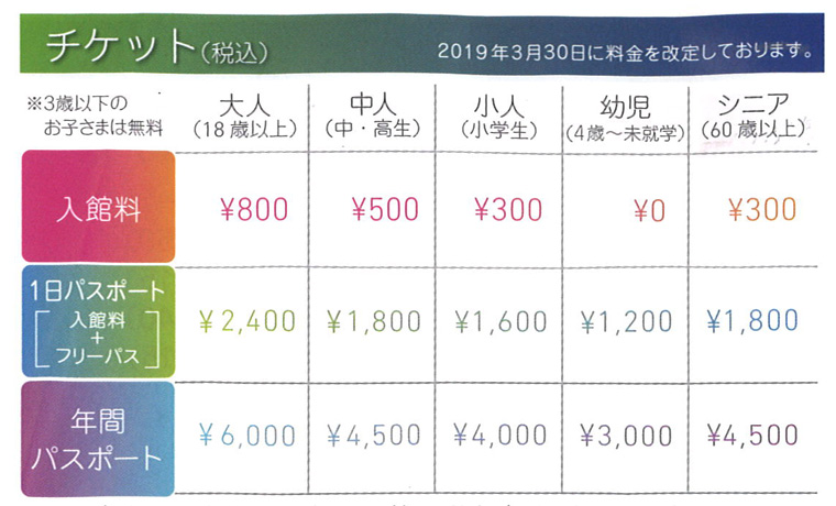 オービー横浜のチケット料金
