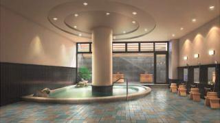 リニューアルオープンした横浜上郷 森の家の大浴場写真