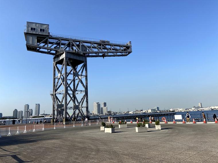 みなとみらい新港地区に新しくできた「横浜ハンマーヘッド」のハンマーヘッド写真