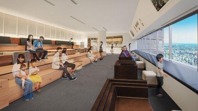 リニューアルオープンする横浜ランドマークタワーの69階展望フロア「スカイガーデン」のイメージ図