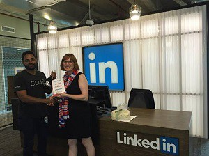 LinkedIn Melbourne Vikram Nair and Sue Ellson