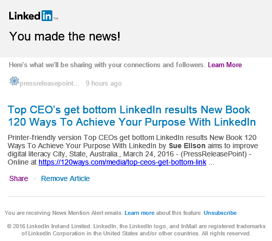 LinkedIn News Top CEO's get bottom LinkedIn results