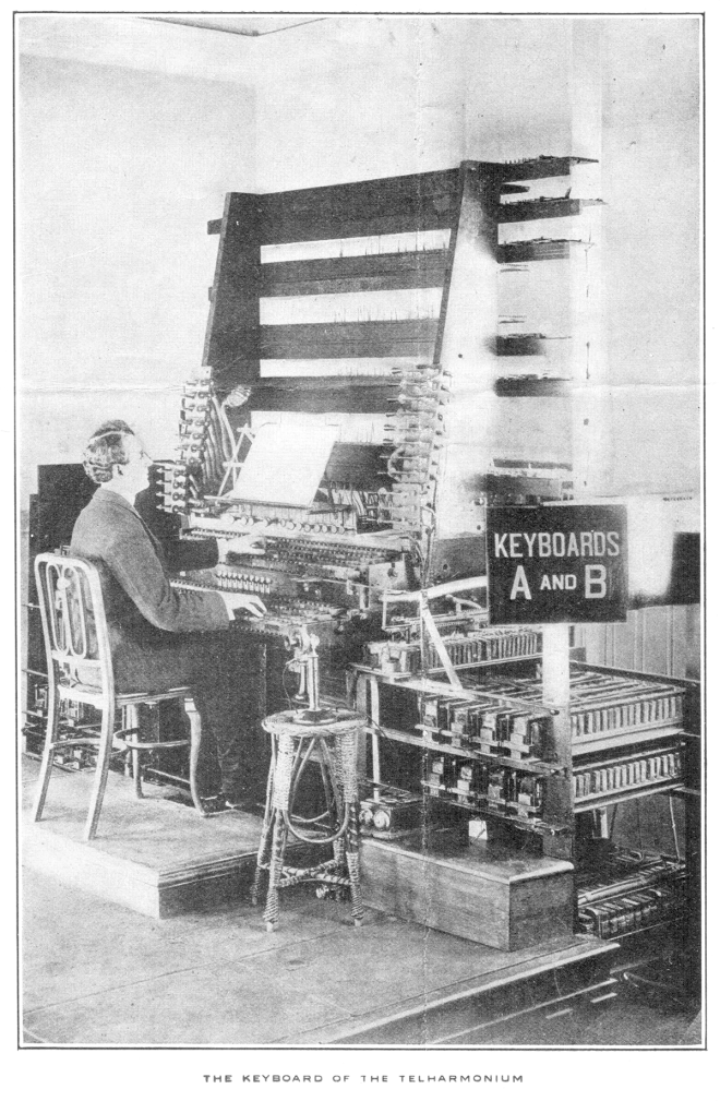The dual manual of the MkII Telharmonium. Gunter's Magazine June 1907