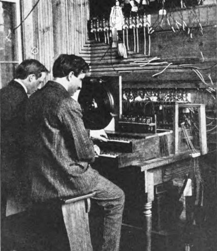 Keyboard players of the MkII Telharmonium