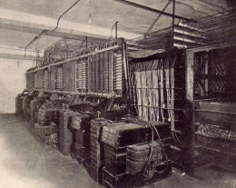 tone mixers in the basement of Telharmonic Hall, circa 1907