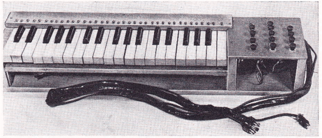 The keyboard of Richard H Dorf's 'Thyratone'