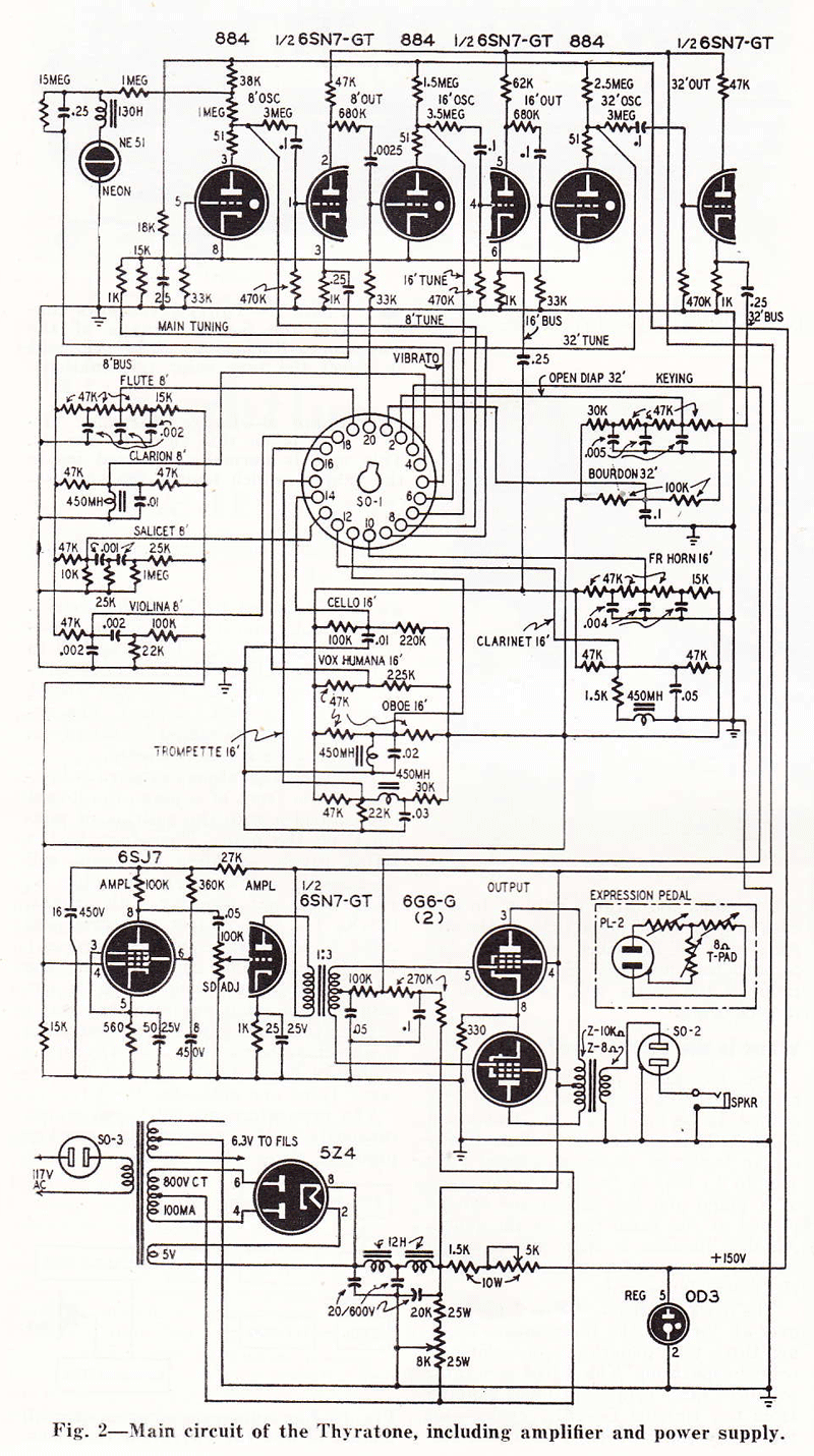 19401950 120 Years Of Electronic Music 1940s 3 Way Switch Wiring Diagram Thyratone Tone Unit And Amplifier Circuit