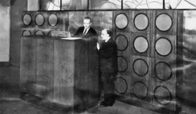 The Orgue Des Ondes installed at the Poste Parisien radio station, Paris, France c 1928