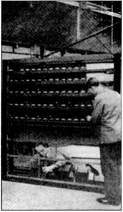 Multiple vacuum tubes of the The Orgue Des Ondes installed at the église de Villemomble, Paris, France c 1928