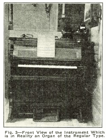 Front view of the Wireless Organ
