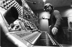 Barry Truax at the console of the quad mixing studio, Institute of Sonology, ca. 1973