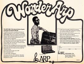 Stevie Wonder endorses the ARP 2600