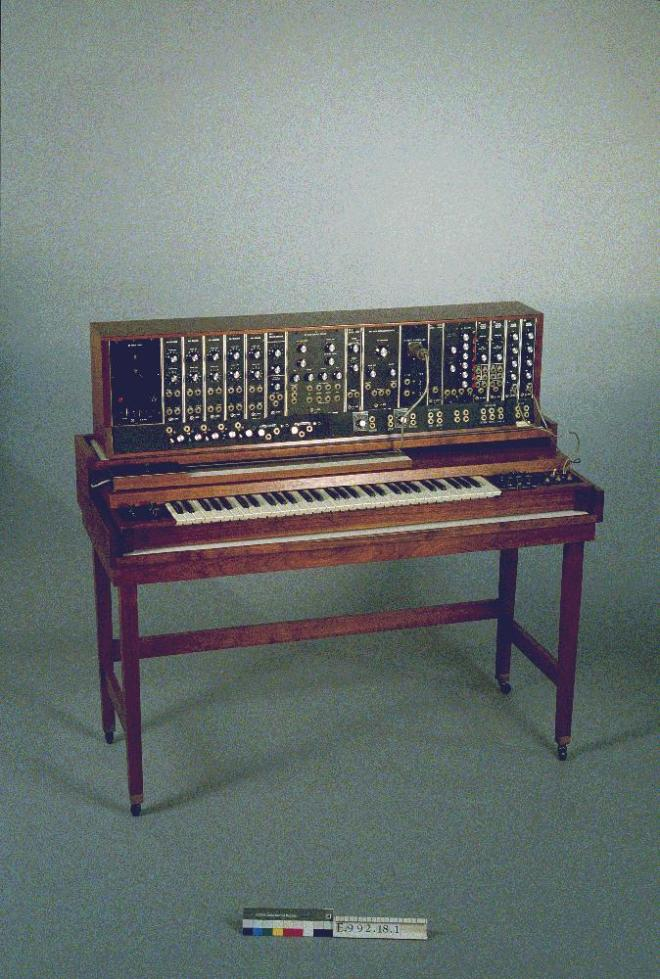 Early Moog Modular from 1964 at the interactive Music Museum, Ghent, Belgium.