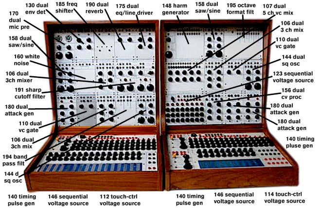 Buchla Modules of the series 100