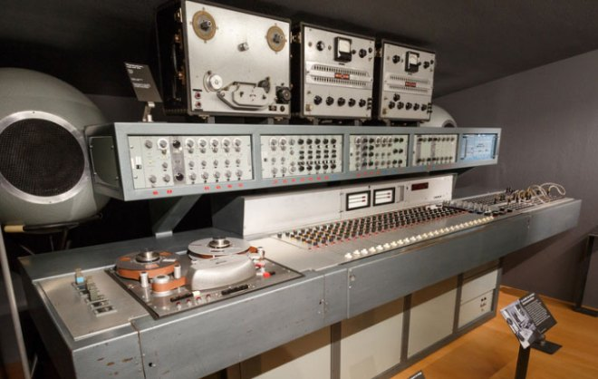 The console of Studio 45 at the GRM