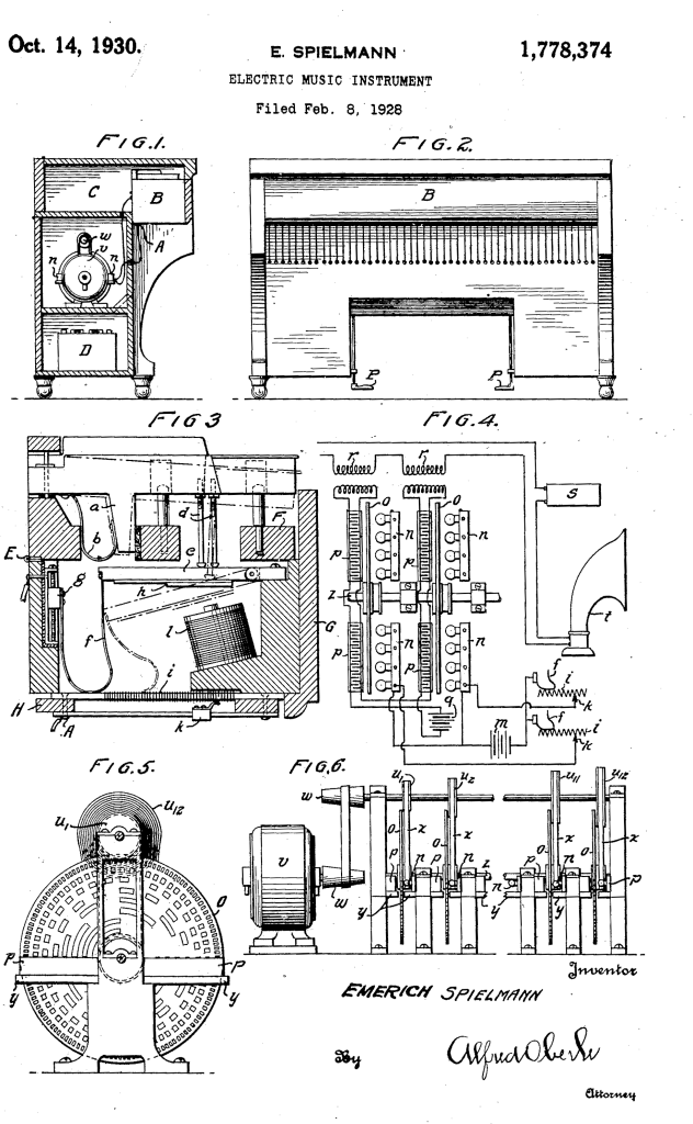 Spielmann's patent for the photo-electrical sound generator