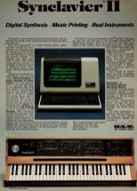 Synclavier 2 advert from 1981