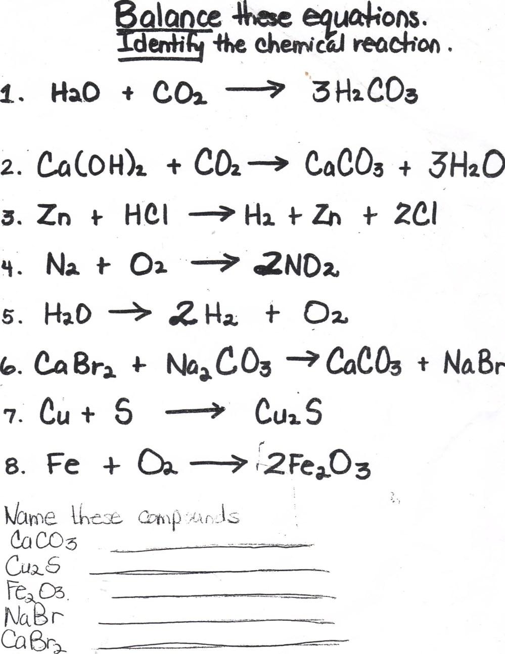 medium resolution of Balancing Chemical Equations Homework Help; Balancing chemical equations  homework help