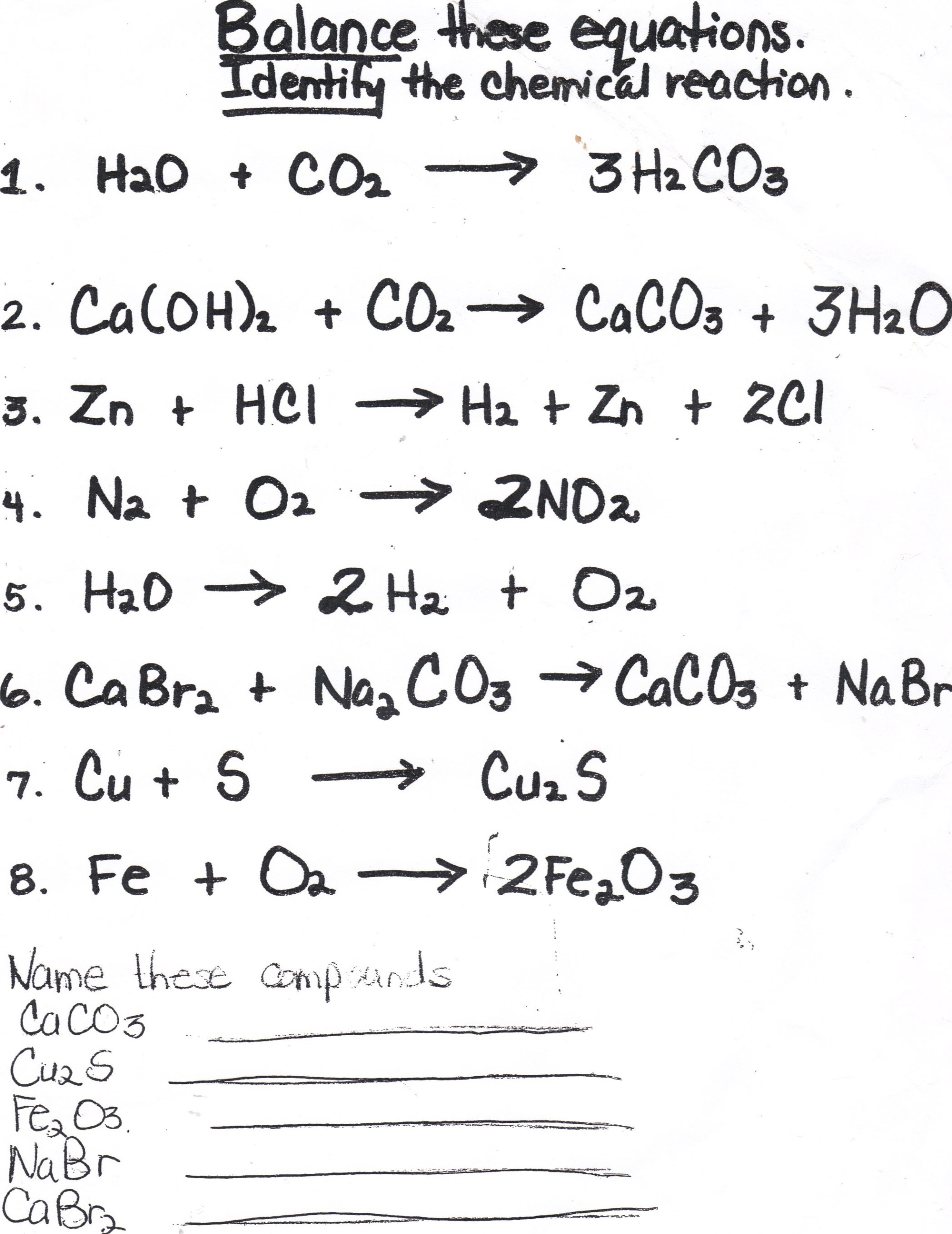 hight resolution of Balancing Chemical Equations Homework Help; Balancing chemical equations  homework help