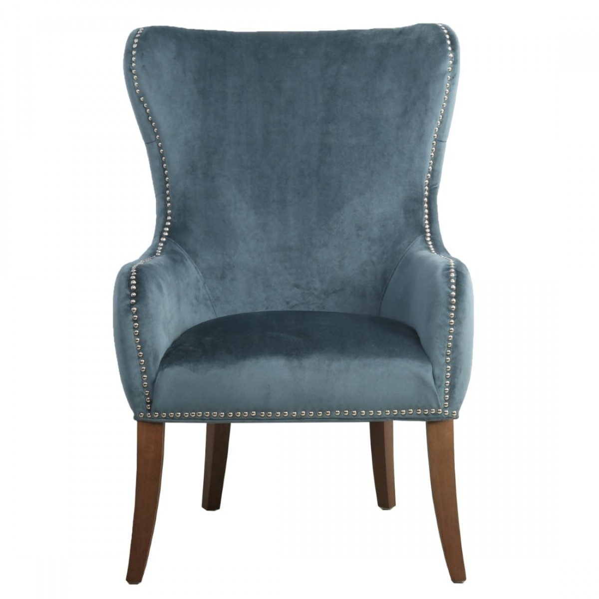 Accent Chair Blue Accent Chairs Shankar Mercer Lounge Chair In Colonial Blue