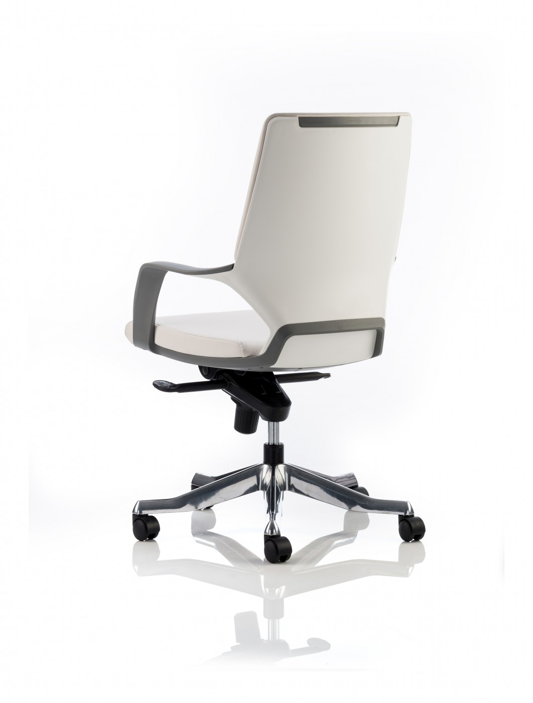 Office Chair White Dynamic Xenon White Leather Executive Chair With White
