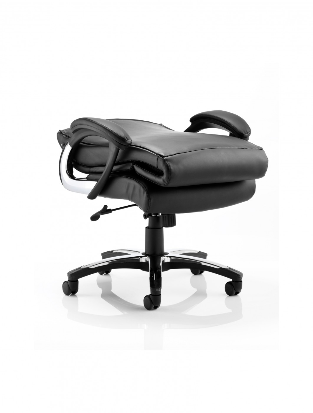 Foldable Office Chair Dynamic Romeo Leather Folding Executive Office Chair