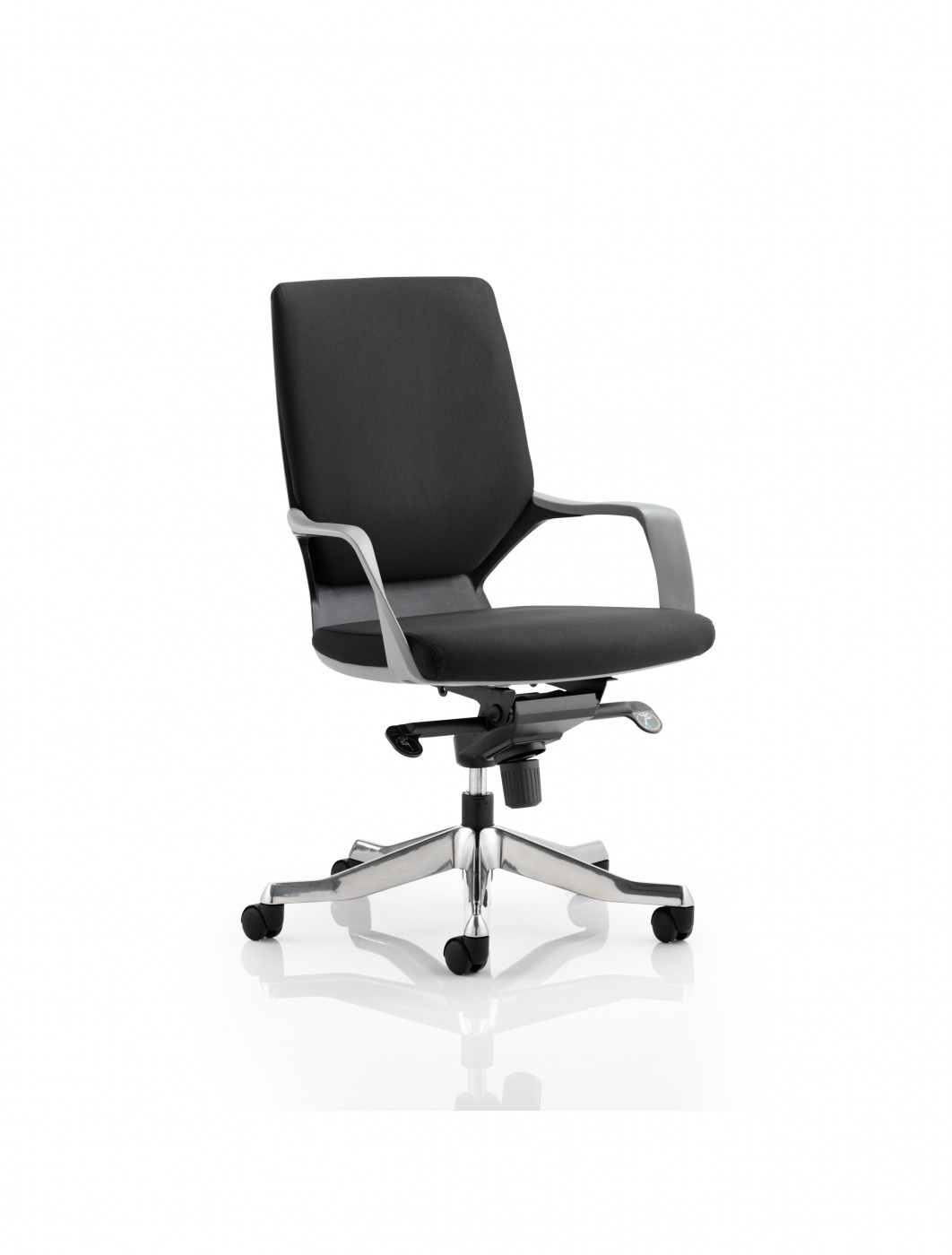 Cloth Office Chairs Dynamic Xenon Black Fabric Executive Chair With Black