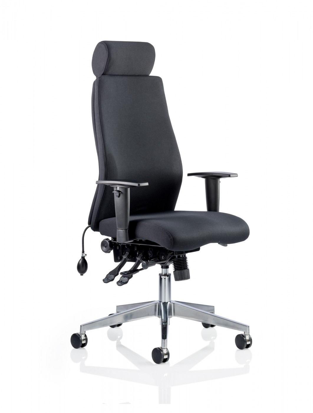 24 Hour Office Chairs Dynamic Onyx Fabric Office Chair With Headrest Op000096
