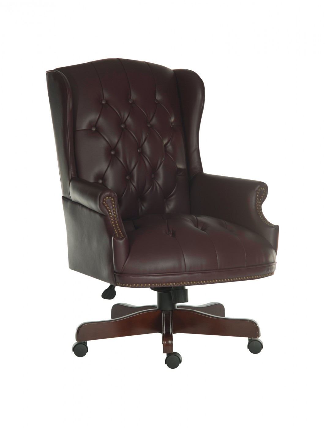 Leather Office Chairs Teknik Chairman Leather Executive Chair B800 Burgundy