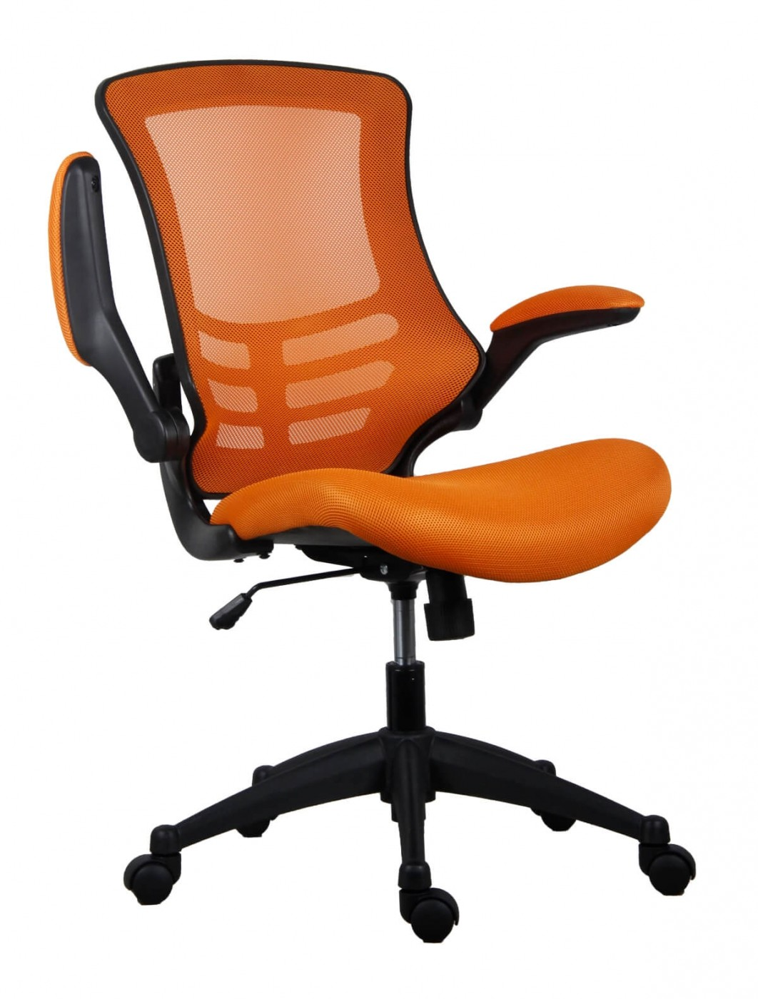 Orange Office Chairs Office Chairs Marlos Mesh Office Chair In Orange Ch0790or