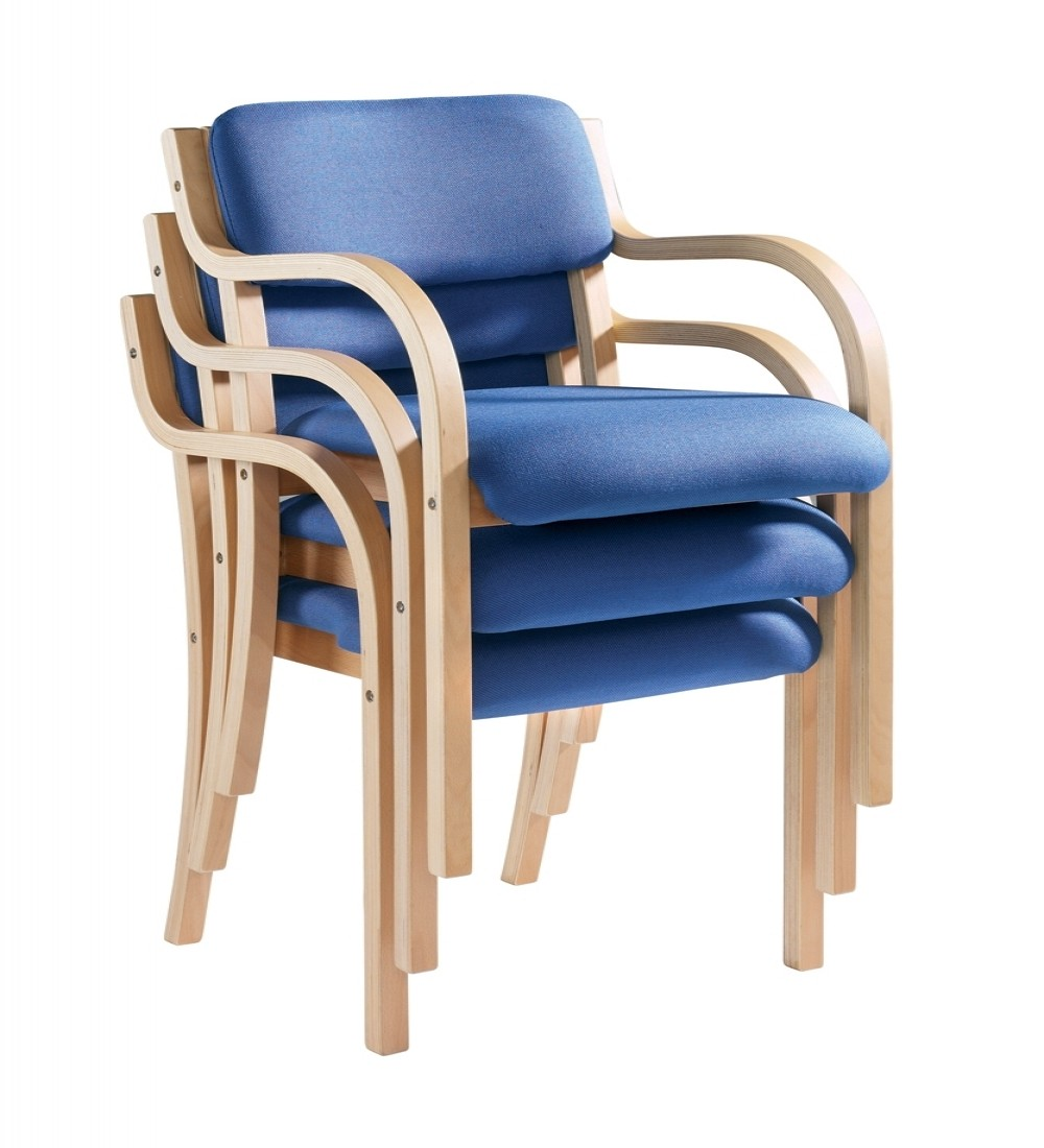Stacking Chairs Prague Wood Frame Chairs PRA50001  121 Office Furniture