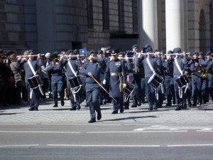 Josef playing in the Air Cadet Organisation National Marching Band