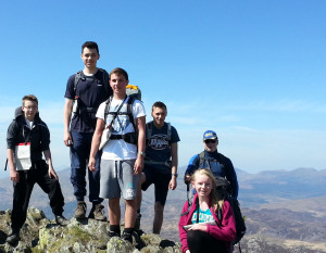 1220 cadets at the summit of Cnicht