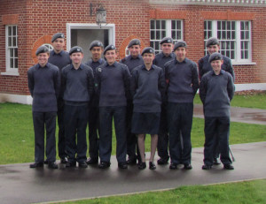 1220 cadets at the RAF Museum in Hendon
