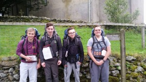 Gold Duke of Edinburgh Cadets - L-R Cpl Willox and Cadets Casson-Rennie (F), Brownlie and MaCrae