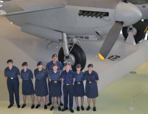 1220 cadets by the Mosquito at Hendon